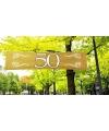 50 jaar decoratie banner 180 x 40 cm